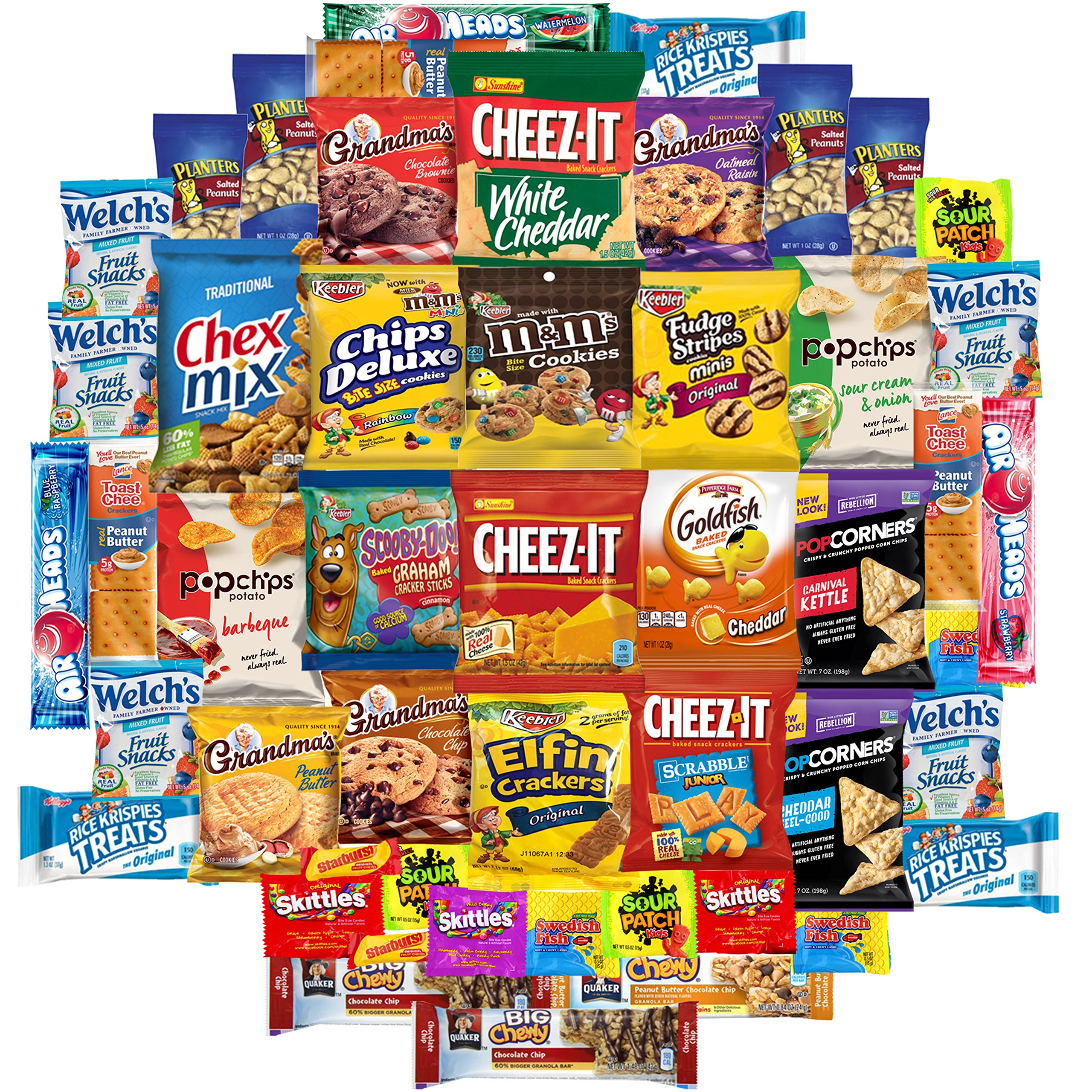 Cookies, Chips & Candies Care Package Variety Pack Bundle Sampler (150 Count) by Snack Chest (Image #2)