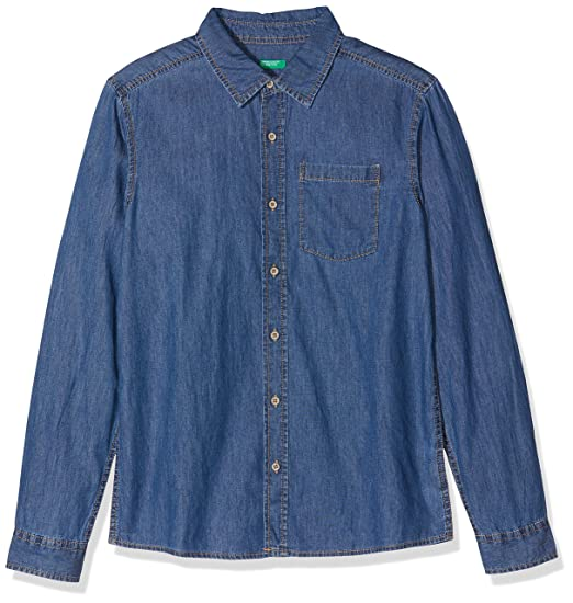 United Colors of Benetton Niños Shirt Camisa Not Applicable, Azul ...