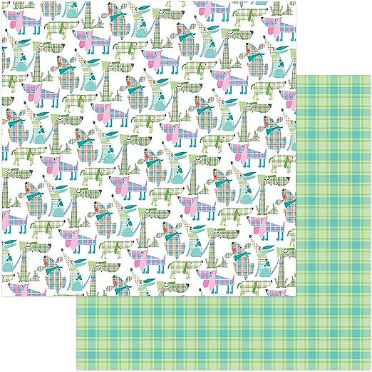 Photo Play Paper Mad 4 Plaid Happy - Cartulina de Doble Cara, 30,5 x 30,5 cm, diseño de Perros: Amazon.es: Juguetes y juegos