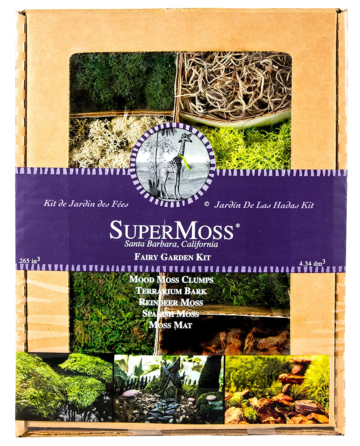 amazon com supermoss 50310 fairy garden kit mixed mosses 4oz
