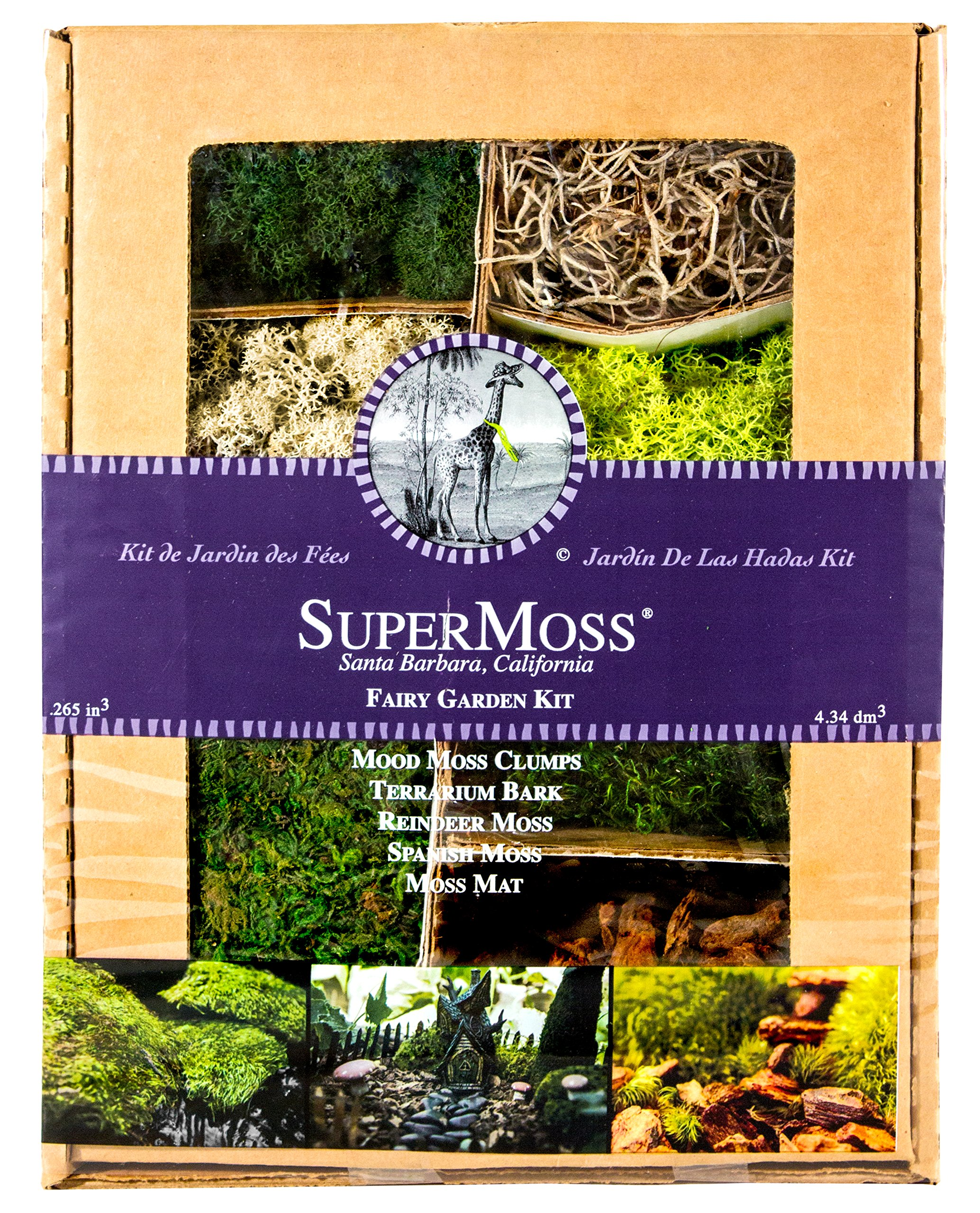 Supermoss (50310) Fairy Garden Kit, Mixed Mosses, 4oz.