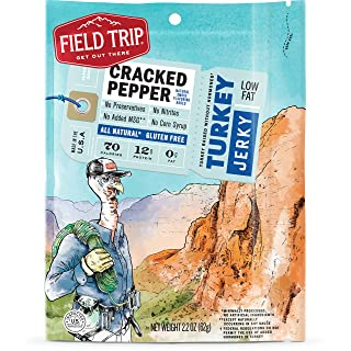 Field Trip All Natural Turkey Jerky, Cracked Pepper, 2.2 Ounce