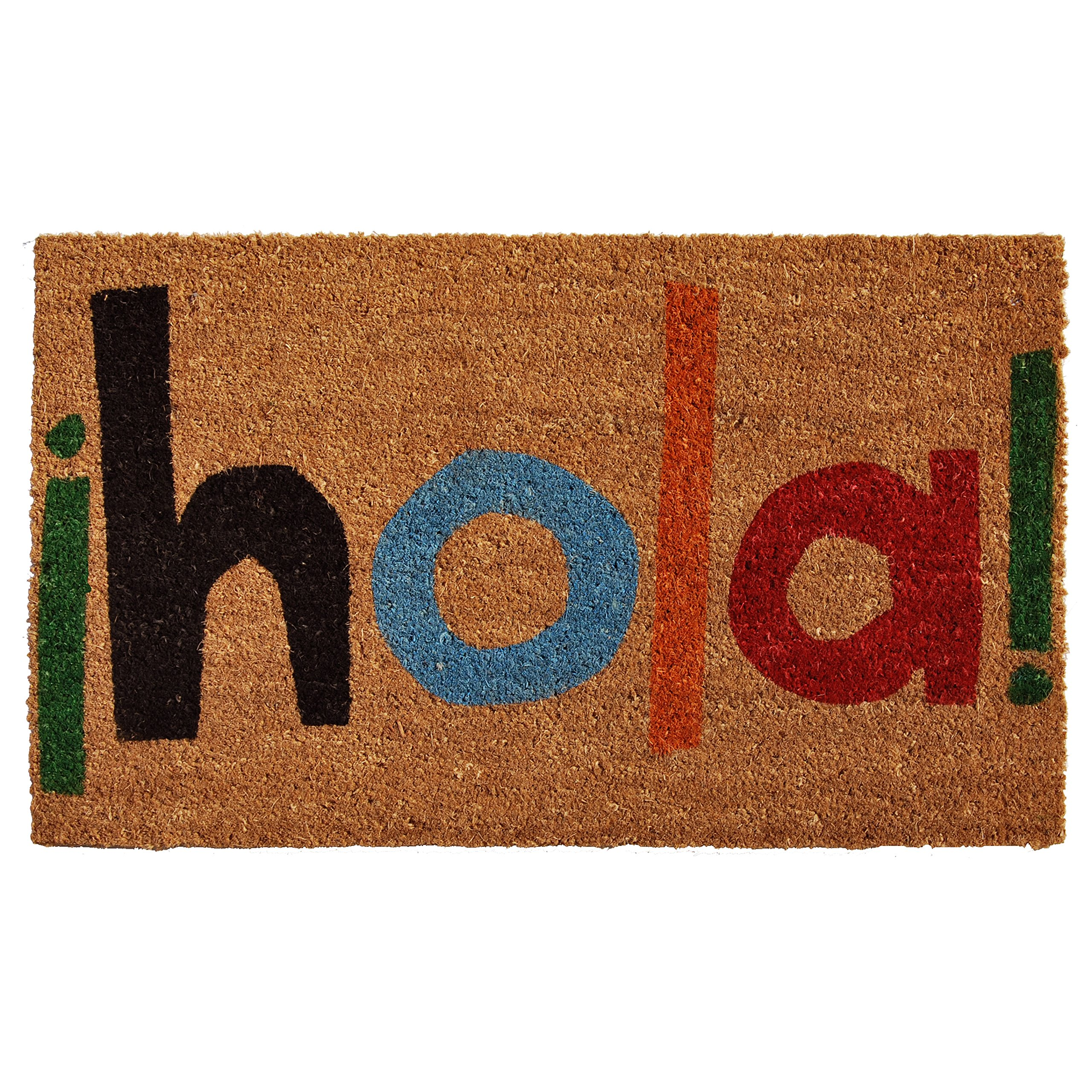 Home & More 121561729 Hola Doormat, 17'' x 29'' x 0.60'', Multicolor