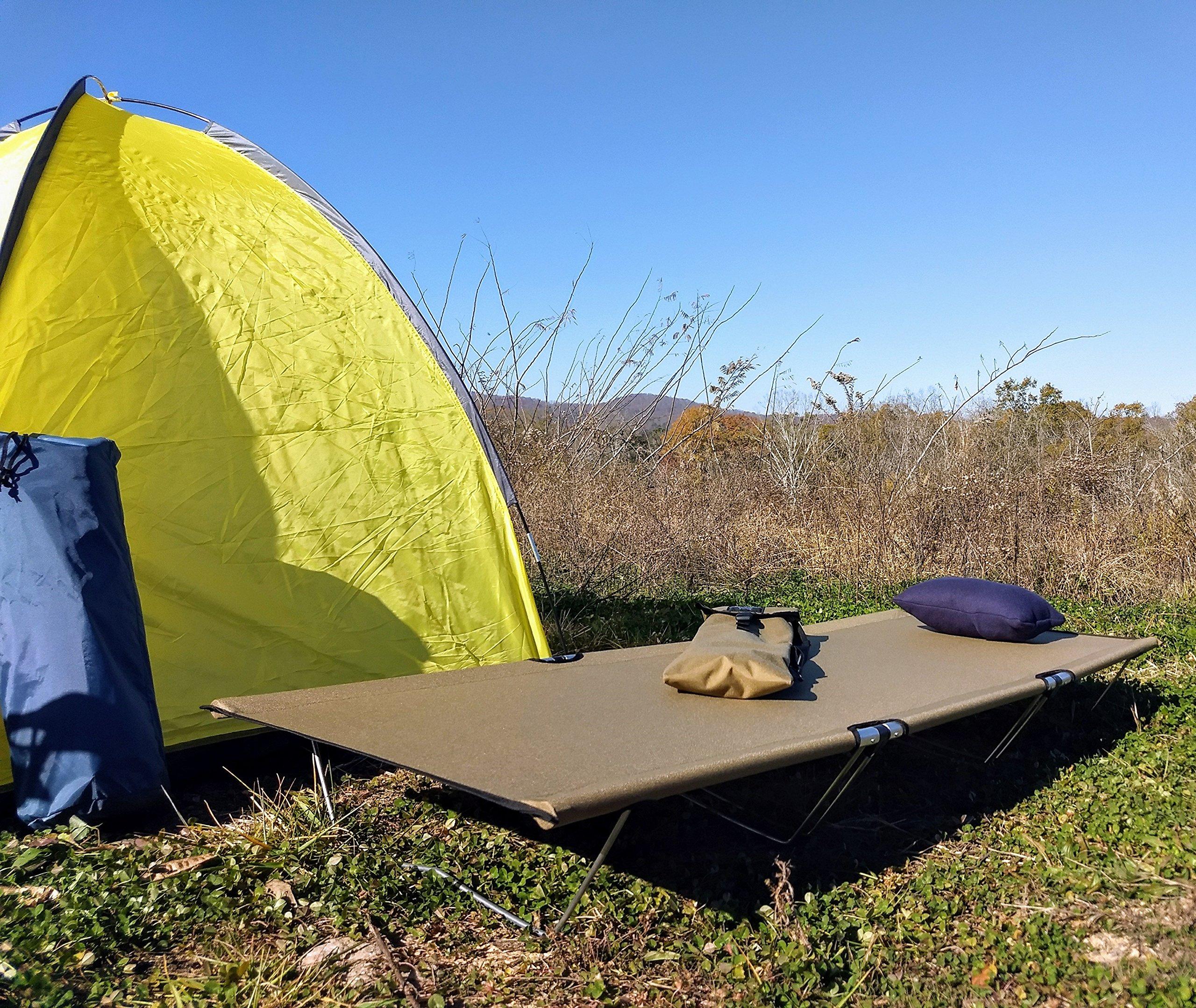 Go-Kot Regular Portable Folding Camping Cot, Coyote Brown by Go-Kot (Image #1)