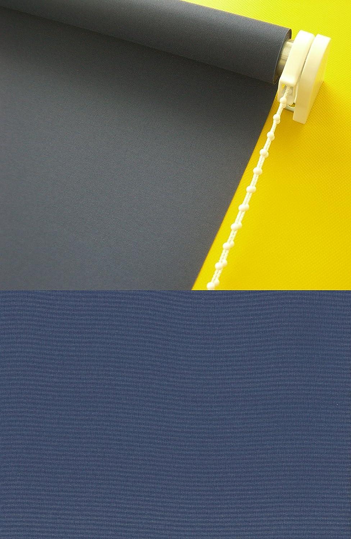 Verdunkelungsrollo Kettenzugrollo Seitenzugrollo Rollo Dunkelblau Blau Marine Breite 60-200 cm Länge 180 cm Sonnenschutz Sichtschutz verdunkelnd (200 x 180 cm)
