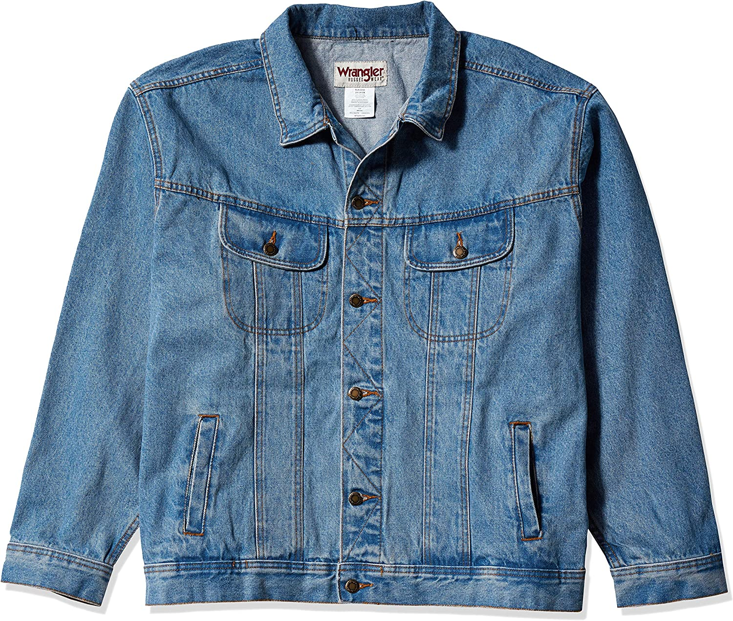 Wrangler Men's Rugged Wear Unlined Denim Jacket at  Men's Clothing store