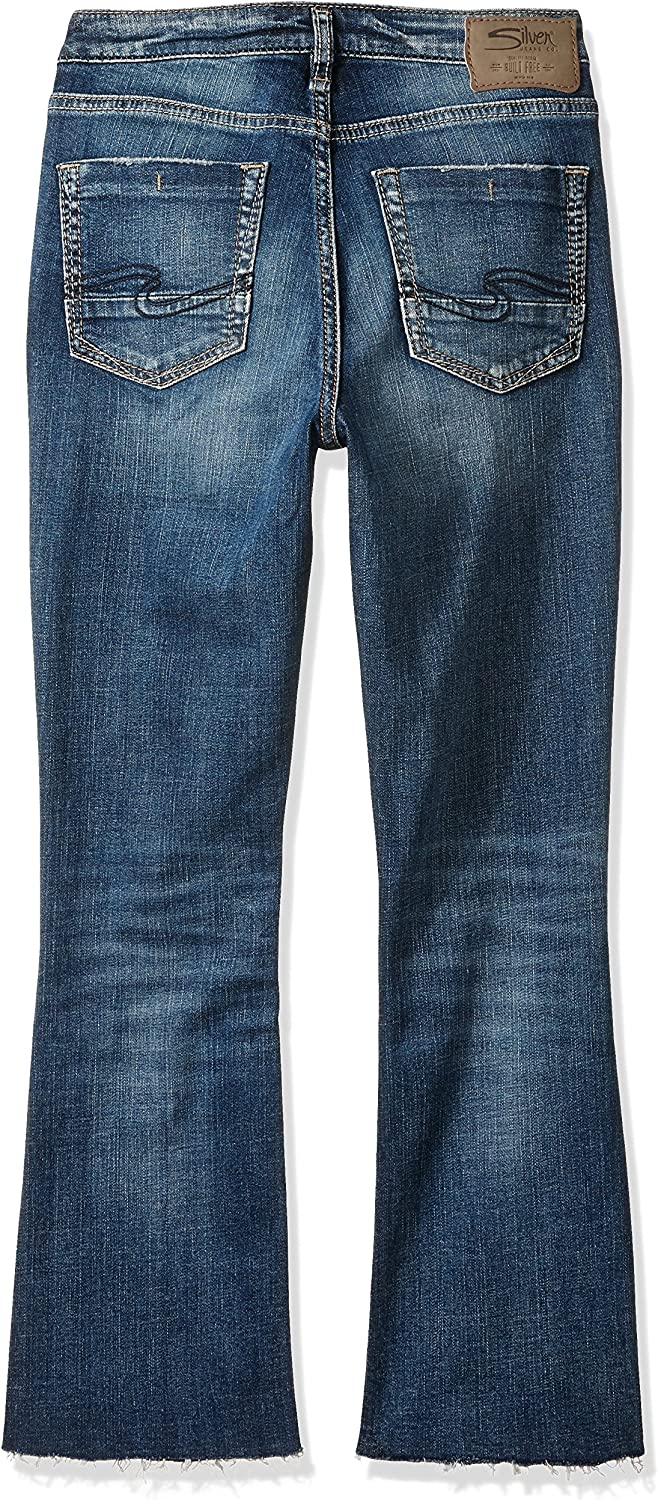 Womens Izzy High-Rise Ankle-Kicker Jeans Jeans Silver Jeans Co