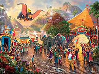 product image for Ceaco Thomas Kinkade Disney Princess Collection Dumbo Jigsaw Puzzle, 300 Pieces