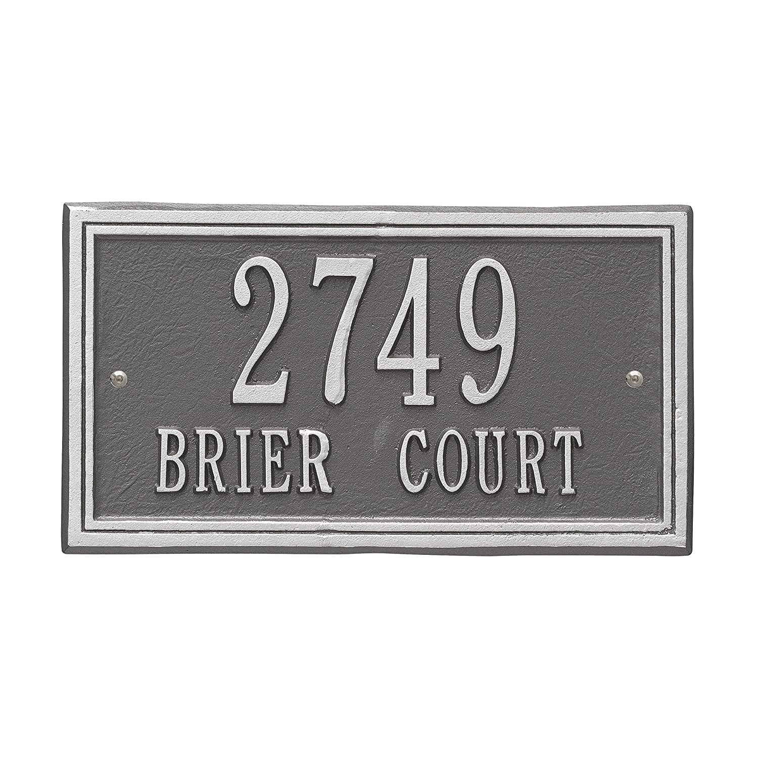 Whitehall 'Double Line' Wall Address Plaque. Customize Two Lines!