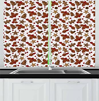 Gingerbread Kitchen Curtains Awesome Decorating Design