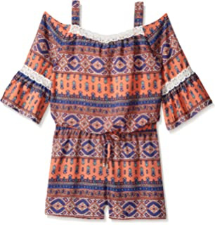 1451e341018a Amazon.com  Amy Byer Girls  Big Long Sleeve Off Shoulder Print ...