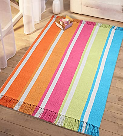 Saral Home Soft Cotton Reversible Kids Rugs -90x150 cm