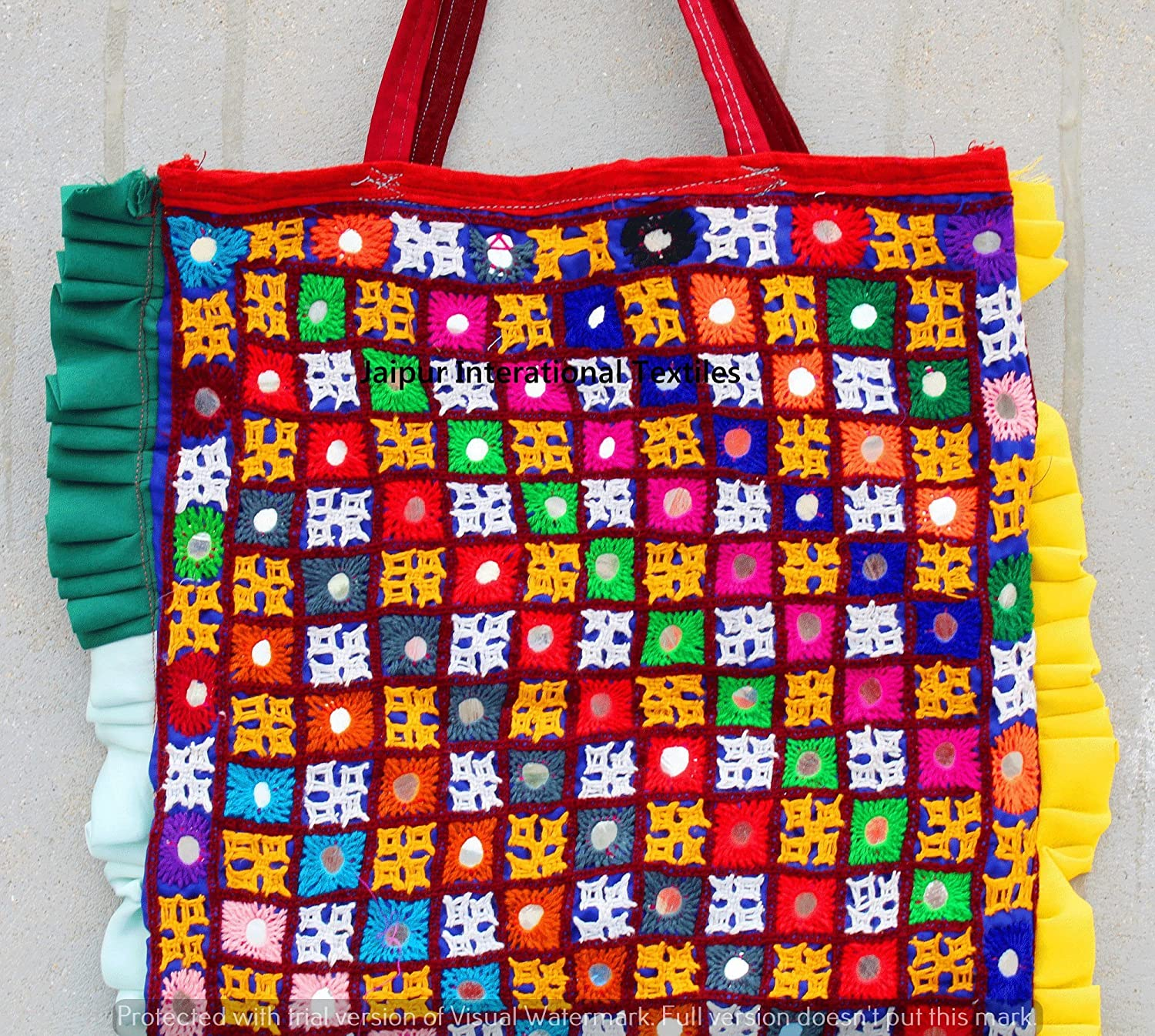 5b95d6de6d Amazon.com  Vintage Kutch And Banjara Embroidered Tote bag