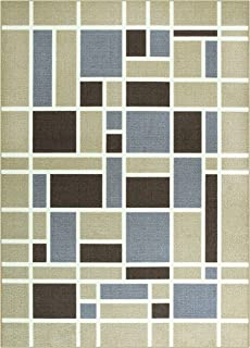 product image for Maples Rugs 5 x 7 Non Slip Large Area Rugs [Made in USA] for Living Room, Bedroom, and Dining Room, Neutral
