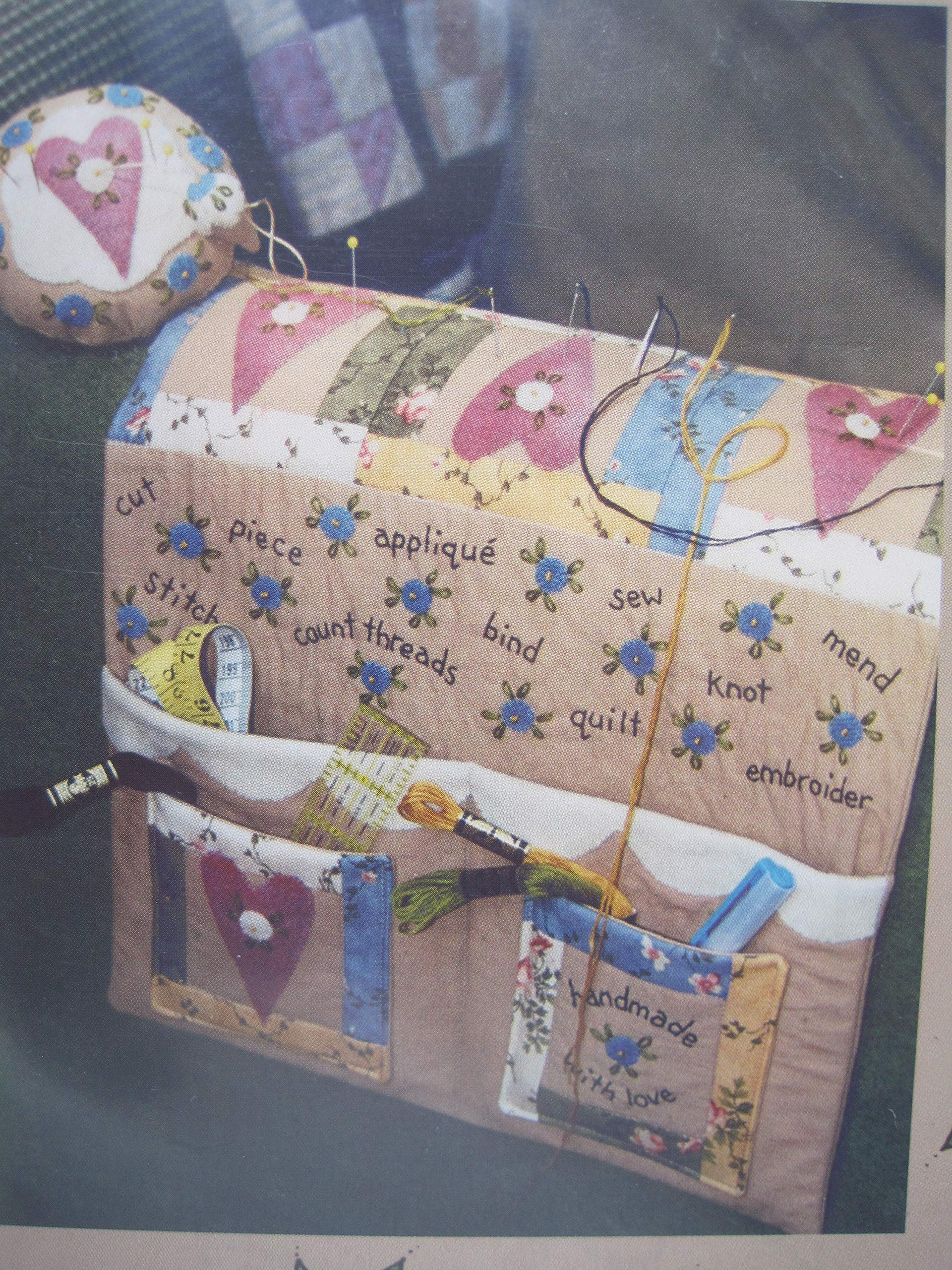 Bareroots Pattern Sewing Things Armchair Caddy And Pin Cushion 86