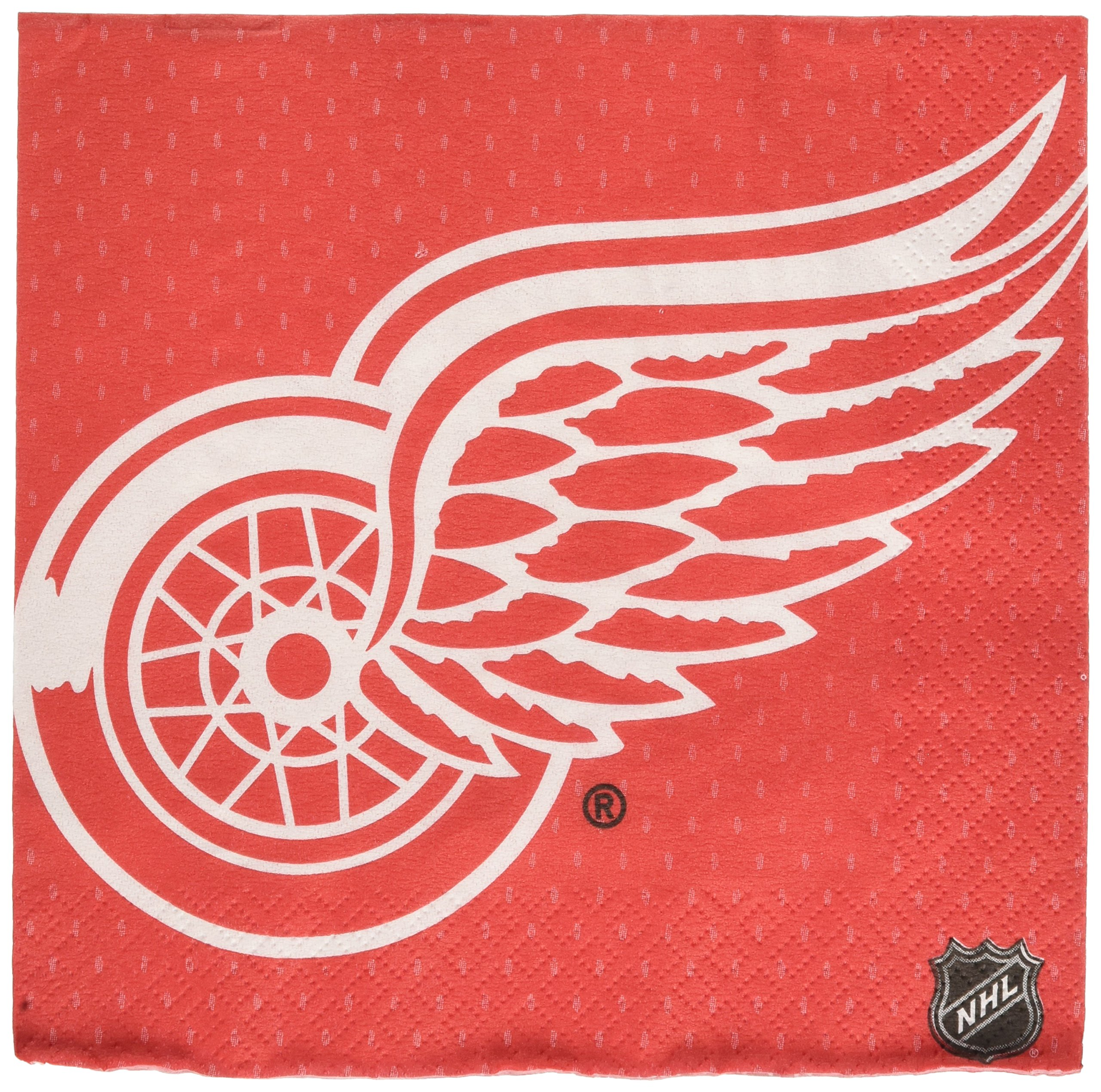 Amscan ''Detroit Red Wings Collection'' Luncheon Napkins, 96 Ct.