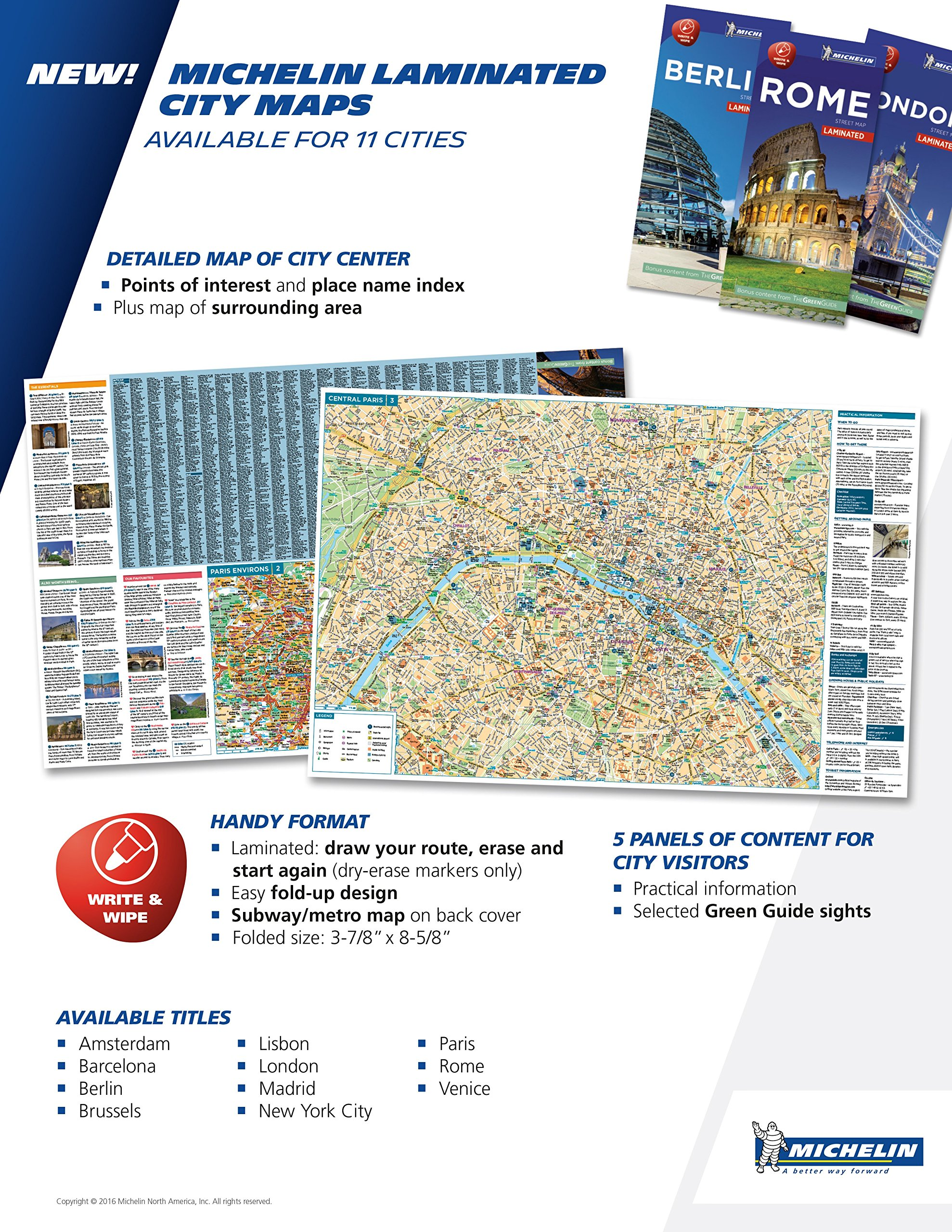 Michelin London City Map Laminated Michelin Write Wipe - London map with cities