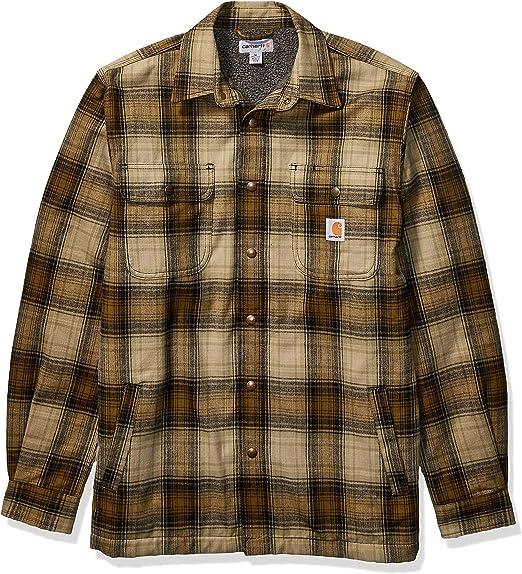 Carhartt Men/'s Long Sleeve Shirt Hubbard Sherpa Lined