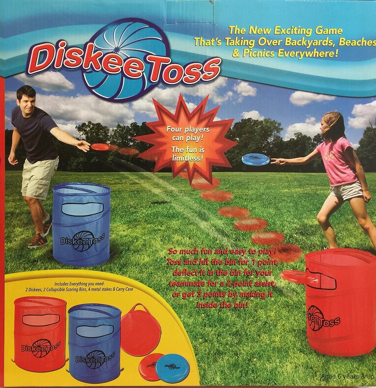 amazon com outdoor backyard diskee toss lawn game kids fun