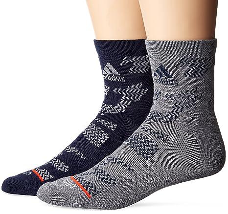 b28ce38c9dbfb7 Amazon.com  adidas Mens 2-Pack High Quarter sock  Sports   Outdoors