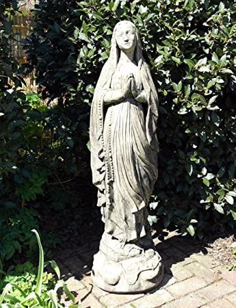 Large Garden Sculpture - Religious Mary Stone Statue