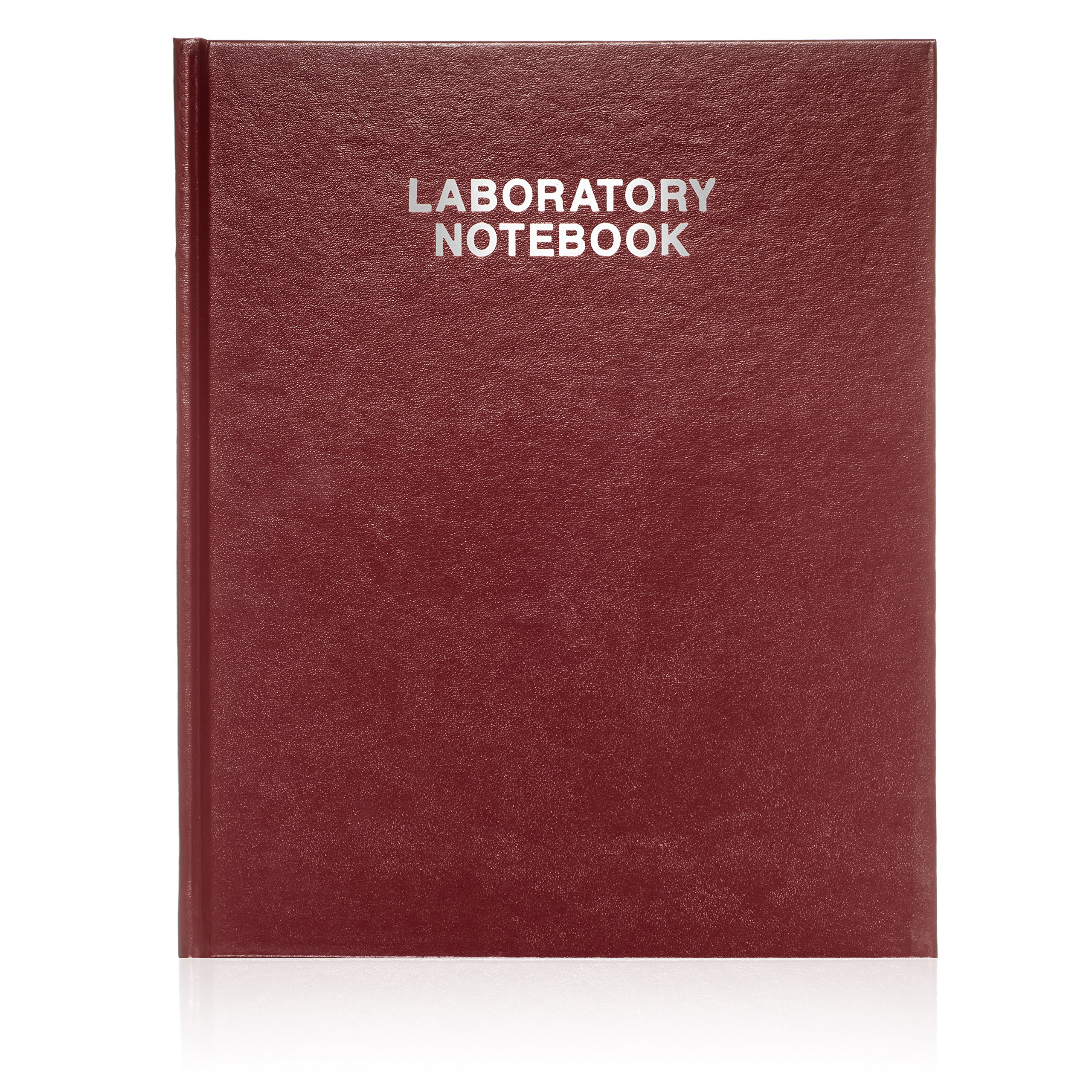 Scientific Notebook Company Burgundy cover Oversized Hardcover, Research Laboratory Notebook, 160 Pages, Smyth Sewn, 9 5/8'' x 12 1/2'', 4x4 Grid by Scientific Notebook Company