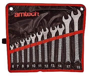 Piece COMBINATION  RATCHET WRENCH AM-TECH 5 10-19mm SPANNER SET