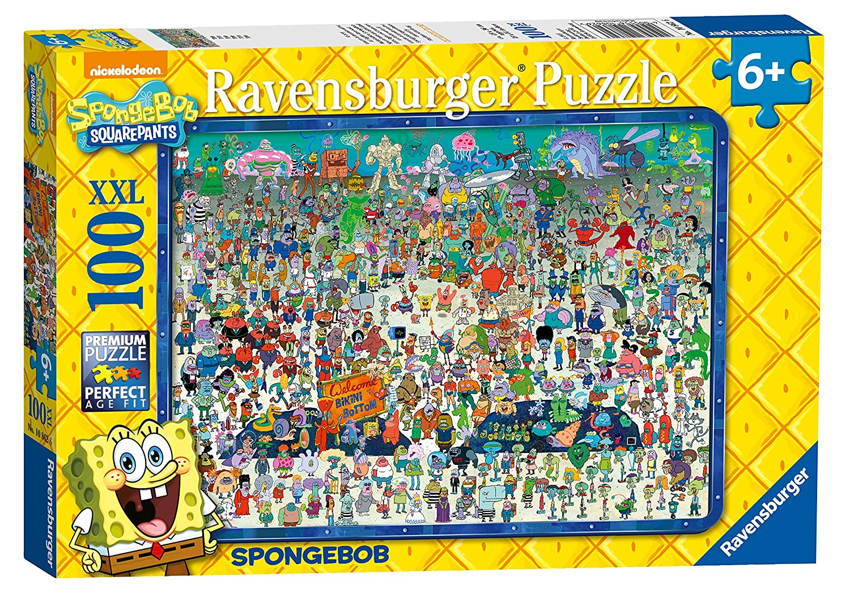 amazon com ravensburger spongebob squarepants xxl 100pc jigsaw
