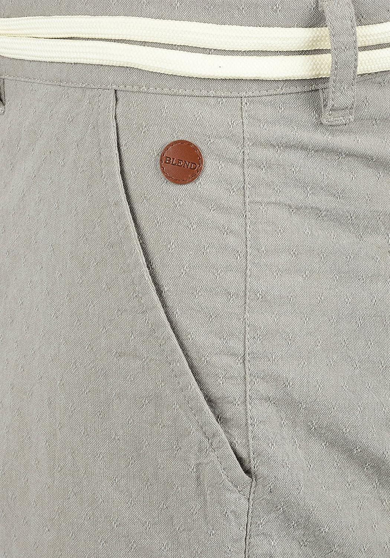 Blend Serge Short Chino Bermuda Pantalon Court pour Homme avec Ceinture 100/% Coton Coupe R/égulaire