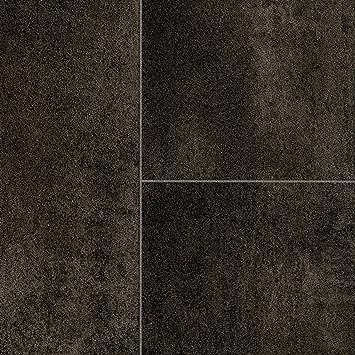 Pvc Bodenbelag Steinoptik Fliesenoptik Anthrazit Grau 200 300