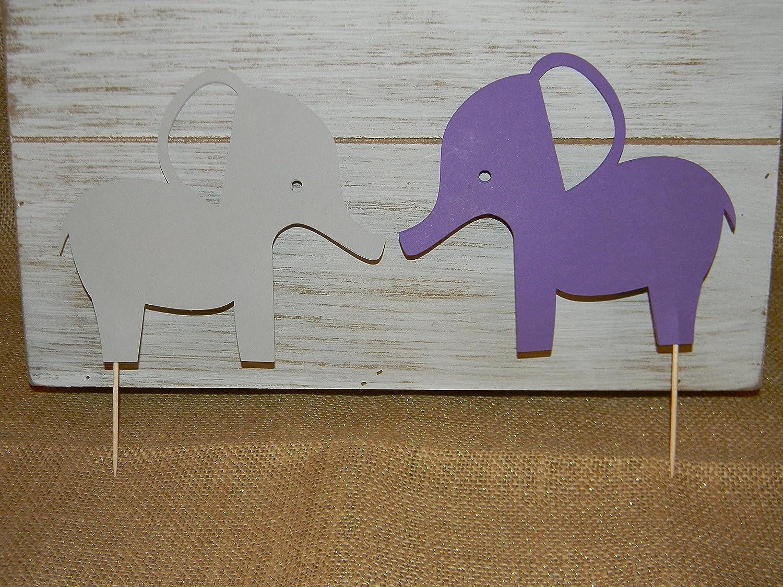 Amazon Com Set Of 2 Elephant Cake Toppers Purple And Gray Birthday Baby Shower Party Supplies Handmade,Christina Anstead Tarek El Moussa
