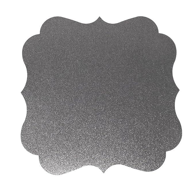 papergala platos de papel con purpurina manteles individuales cargadores para bodas (10 unidades): Amazon.es: Hogar
