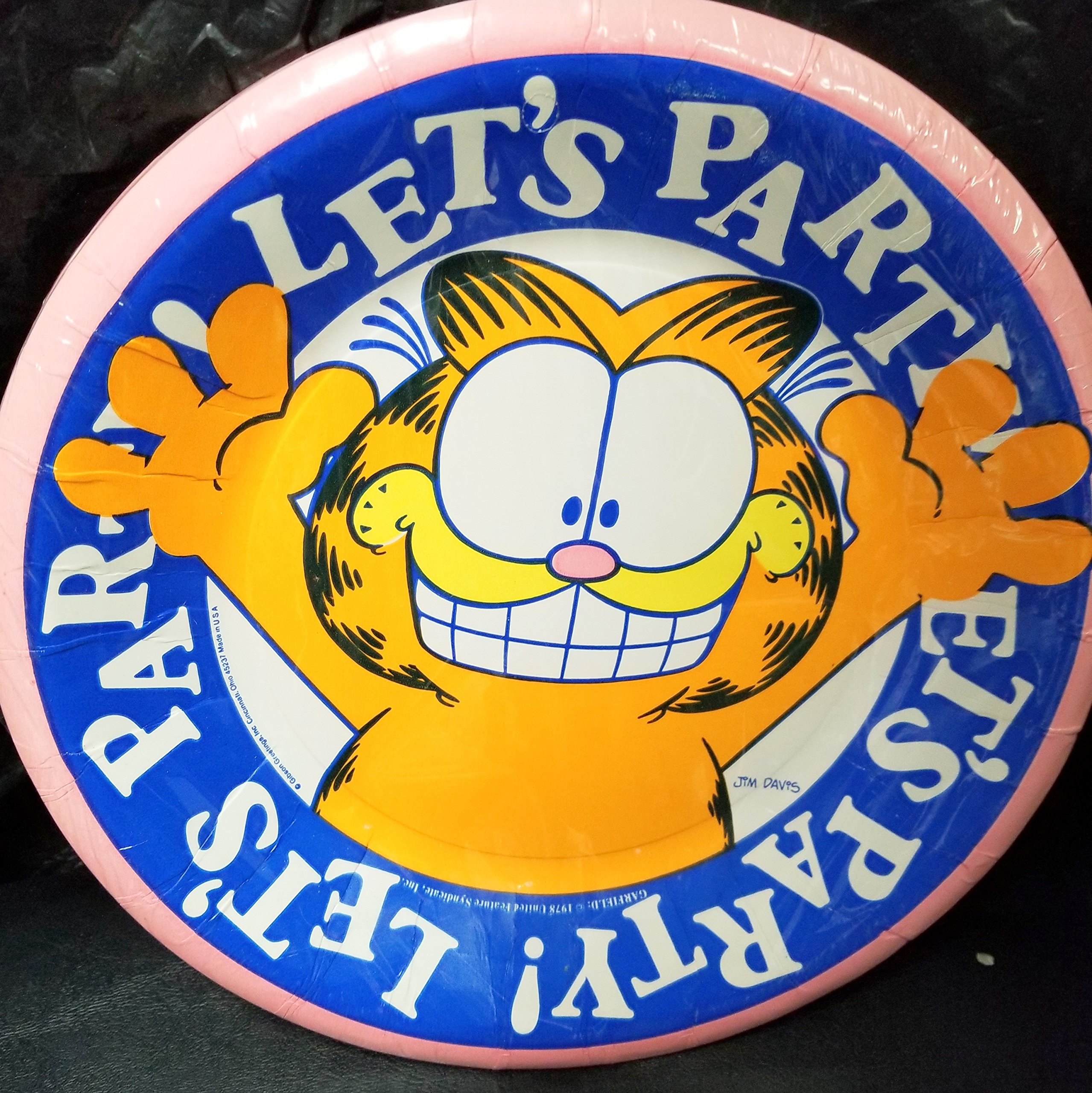Garfield Party Plates Lunch Decoration Gift Party Birthday Favors 8PCS