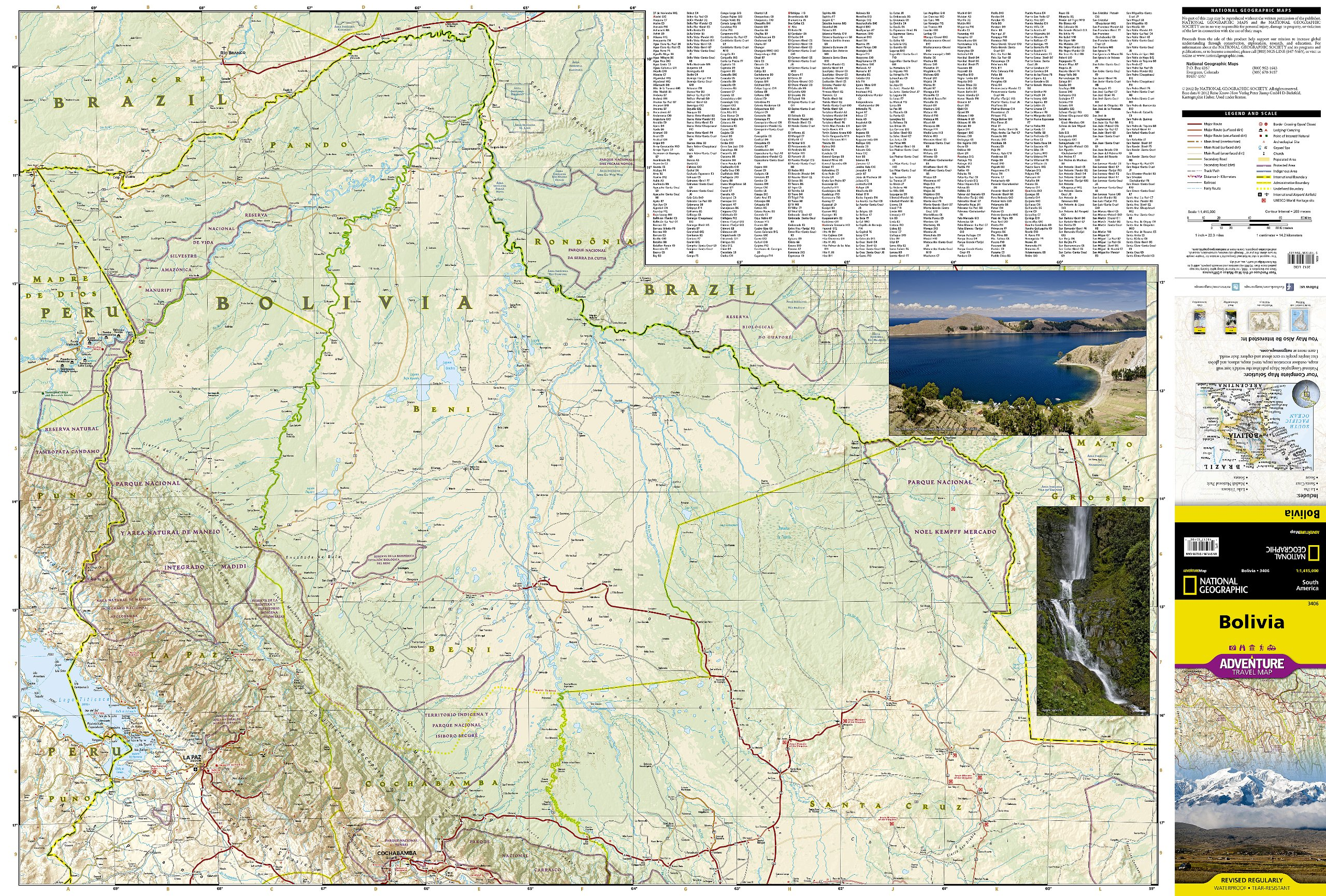 Bolivia National Geographic Adventure Map National Geographic - Bolivia map