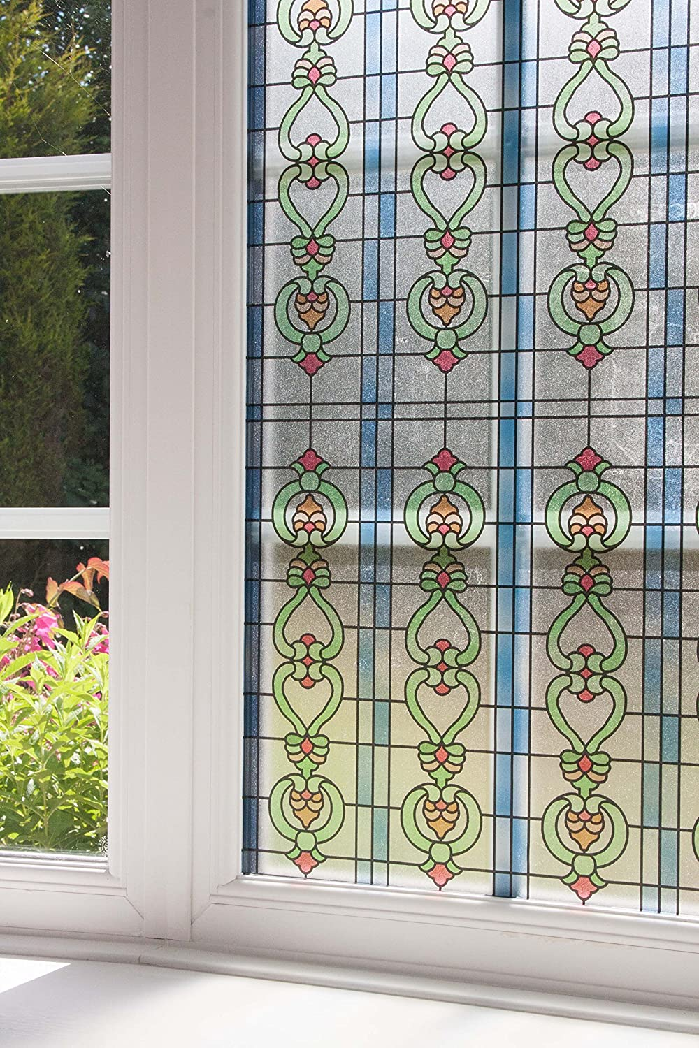 Stained Glass Effect Alkor Sticky Back Plastic self adhesive vinyl window film