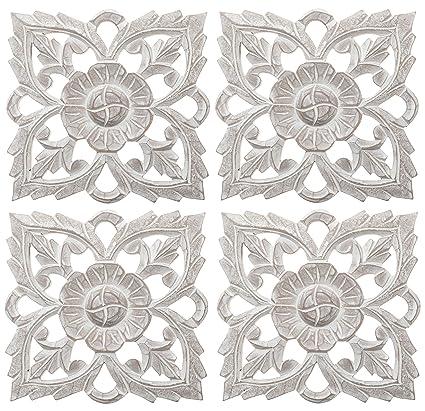 Amazon.com: Set of 4 Antique White 8\