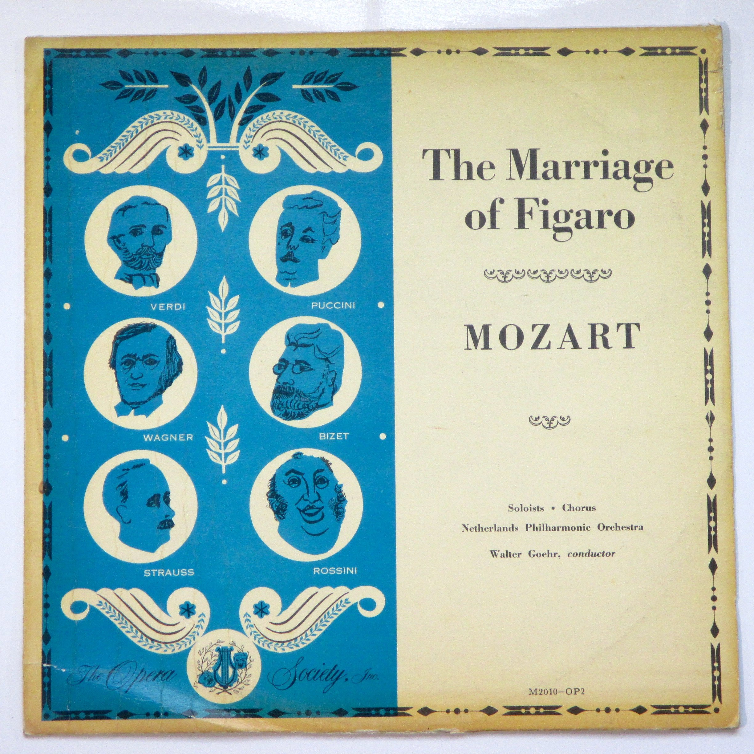 Mozart: The Marriage of Figaro / Soloists, Chorus, Netherlands Philharmonic Orchestra, Walter Goehr, Conductor
