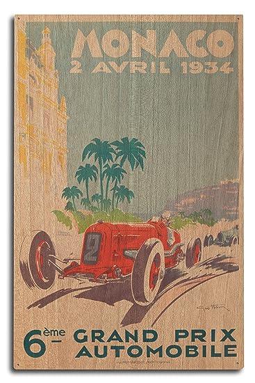 Amazon.com: Grand Prix de Mónaco 1934 Vintage Cartel ...