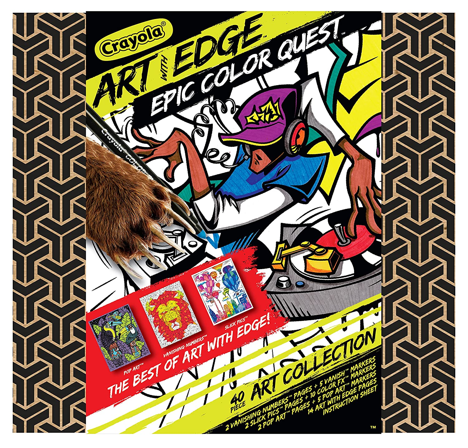 Crayola Art with Edge, Coloring Set, Adult Coloring, Gift for Kids and  Adults