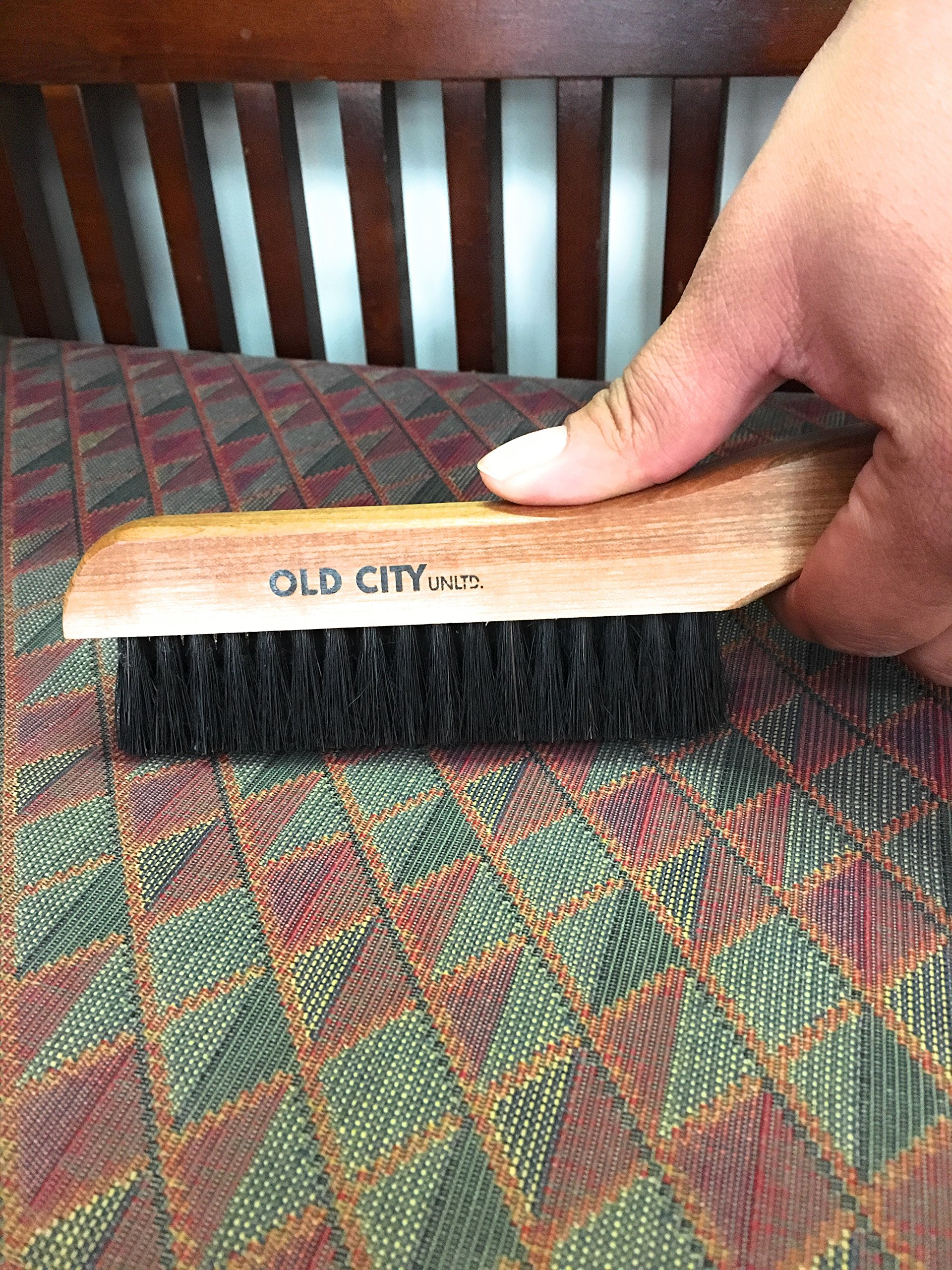 Lint Remover, Garment, Clothes Brush-U.S.A.-Solid Beechwood & 100% High Quality Boar Bristle Brushes; Great for Furniture, Wool Suits, Pet Hair, Suede, Hats and More. Hand Sanded & Oiled