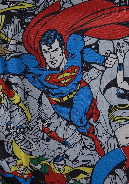 c40c03d3de1c5 Amazon.com  FunComInc Justice League Mens Wool Peacoat with Superhero Comic  Print Ligning  Clothing