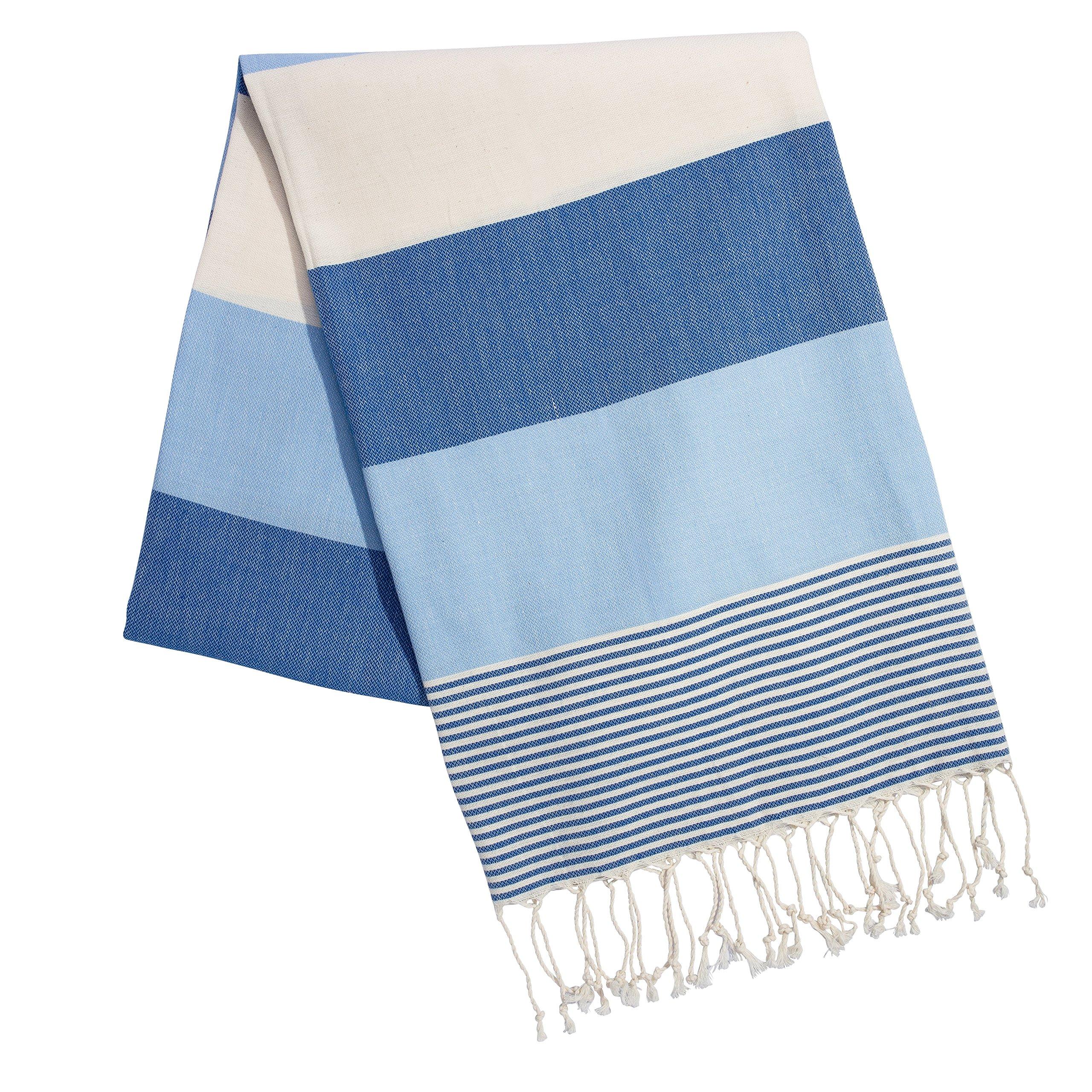TASTE DRINK GO Large Scarf Turkish Towel Peshtemal lightweight Sarong 100% Cotton