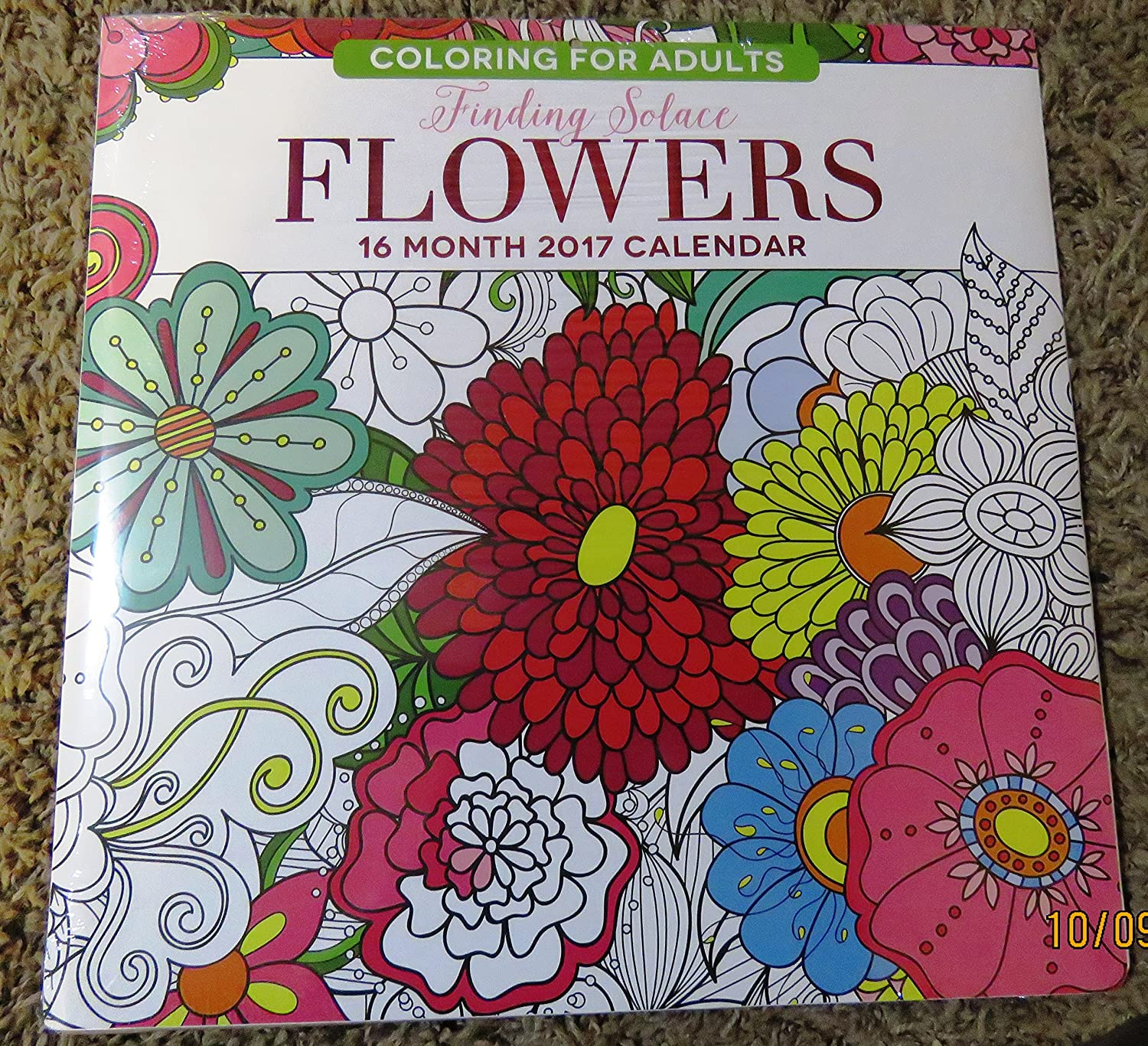 Amazon.com : 2017 Calendar-Finding Solace Flowers Coloring Book ...