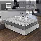 ROYAL SLEEP Colchón viscoelástico Carbono 150x190 firmeza Alta, Gama Alta, Efecto…