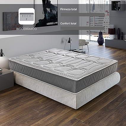 ROYAL SLEEP Colchón viscoelástico Carbono 135x190 firmeza Alta, Gama Alta, Efecto regenerador, Altura