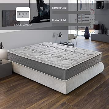 ROYAL SLEEP Colchón viscoelástico Carbono 150x190 firmeza Alta, Gama Alta, Efecto regenerador, Altura 29cm. Colchones Ceramic Premium: Amazon.es: Hogar