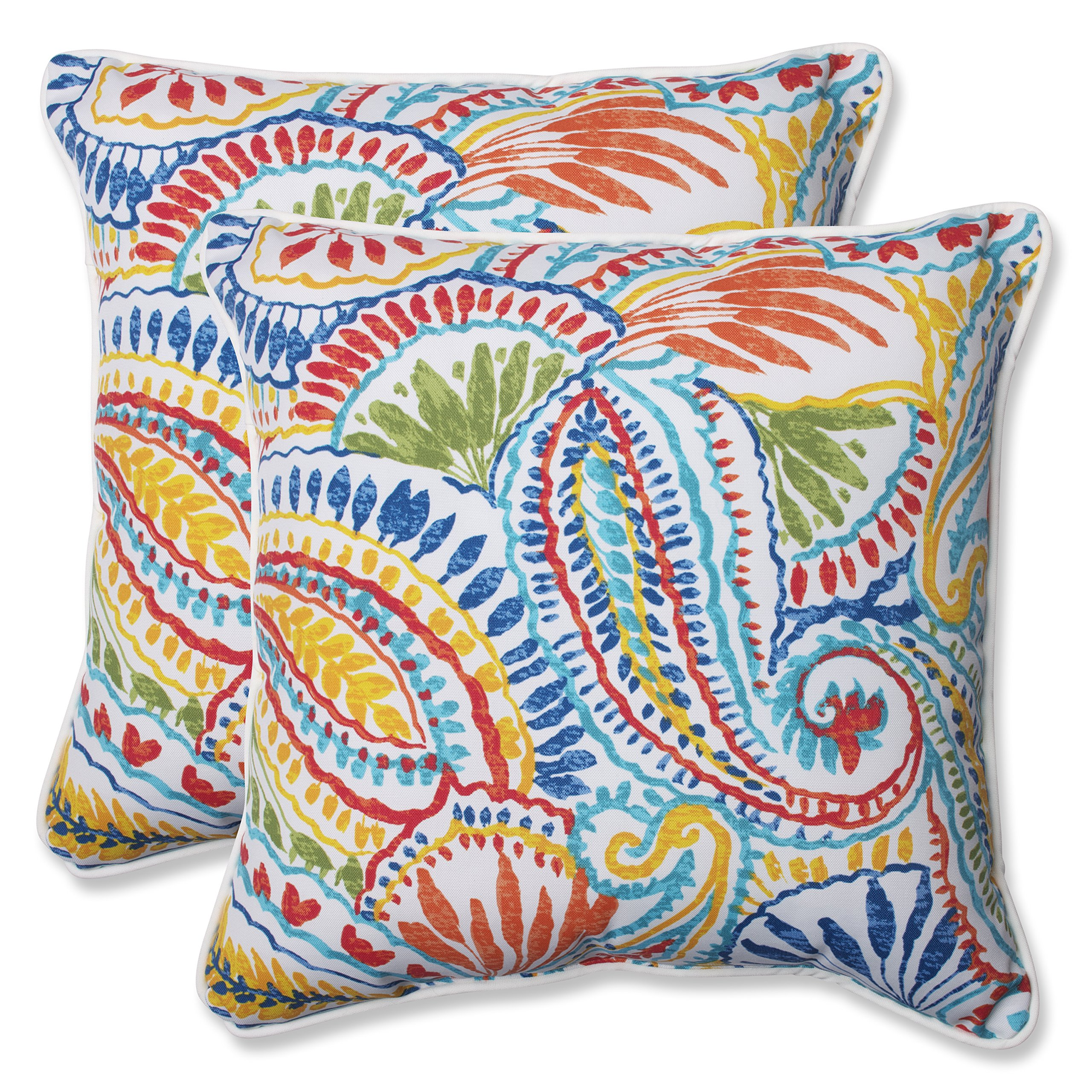 Pillow Perfect 572598 Outdoor Ummi Throw Pillow, Set of 2, 18.5'', Multicolored