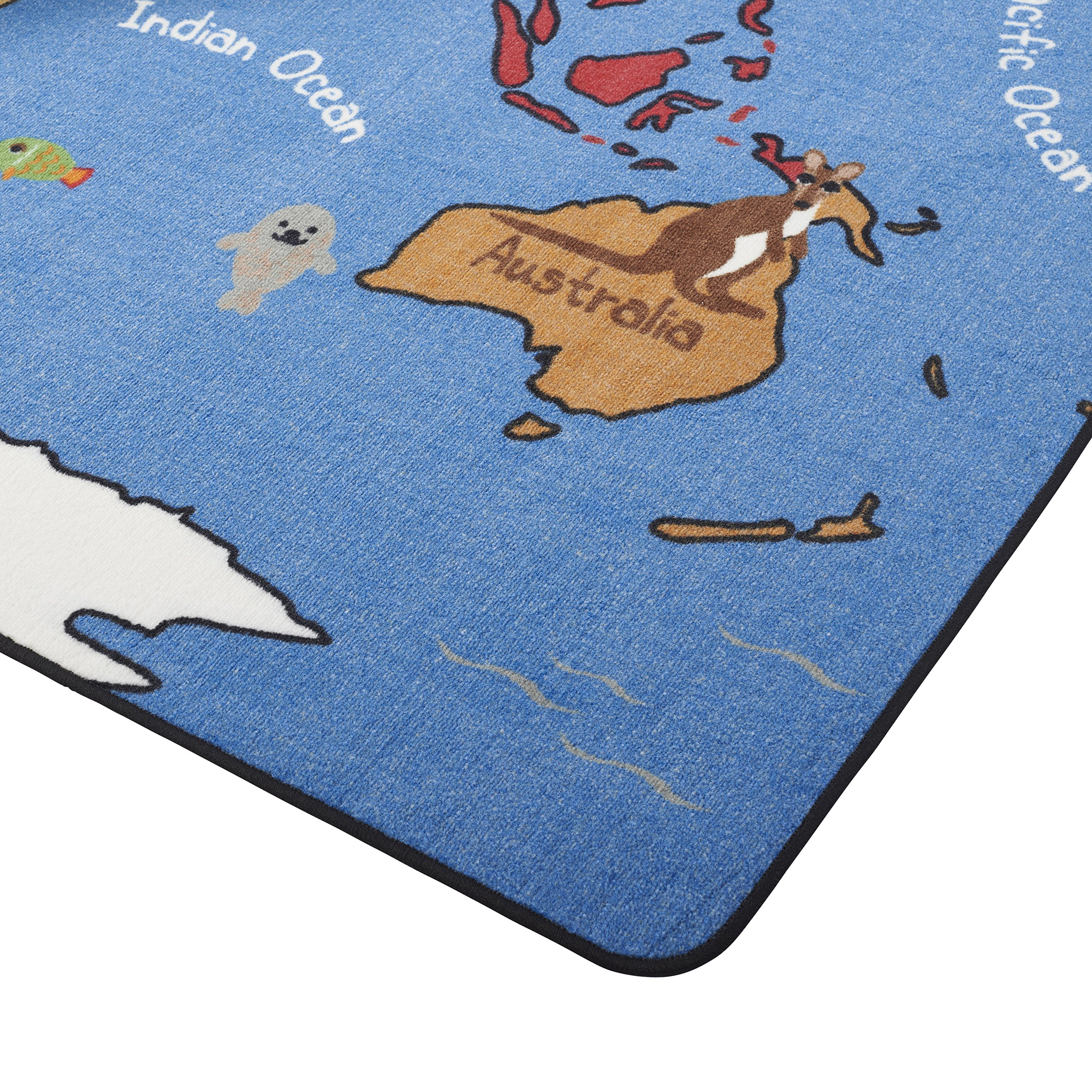 ECR4Kids Animals of the World Educational Activity Rug for Children, School Classroom Learning Carpet, Rectangle, 6 x 9-Feet by ECR4Kids (Image #4)