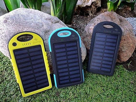 Amazon.com: Zentek Solar Power Bank 5000 mAh batería externa ...