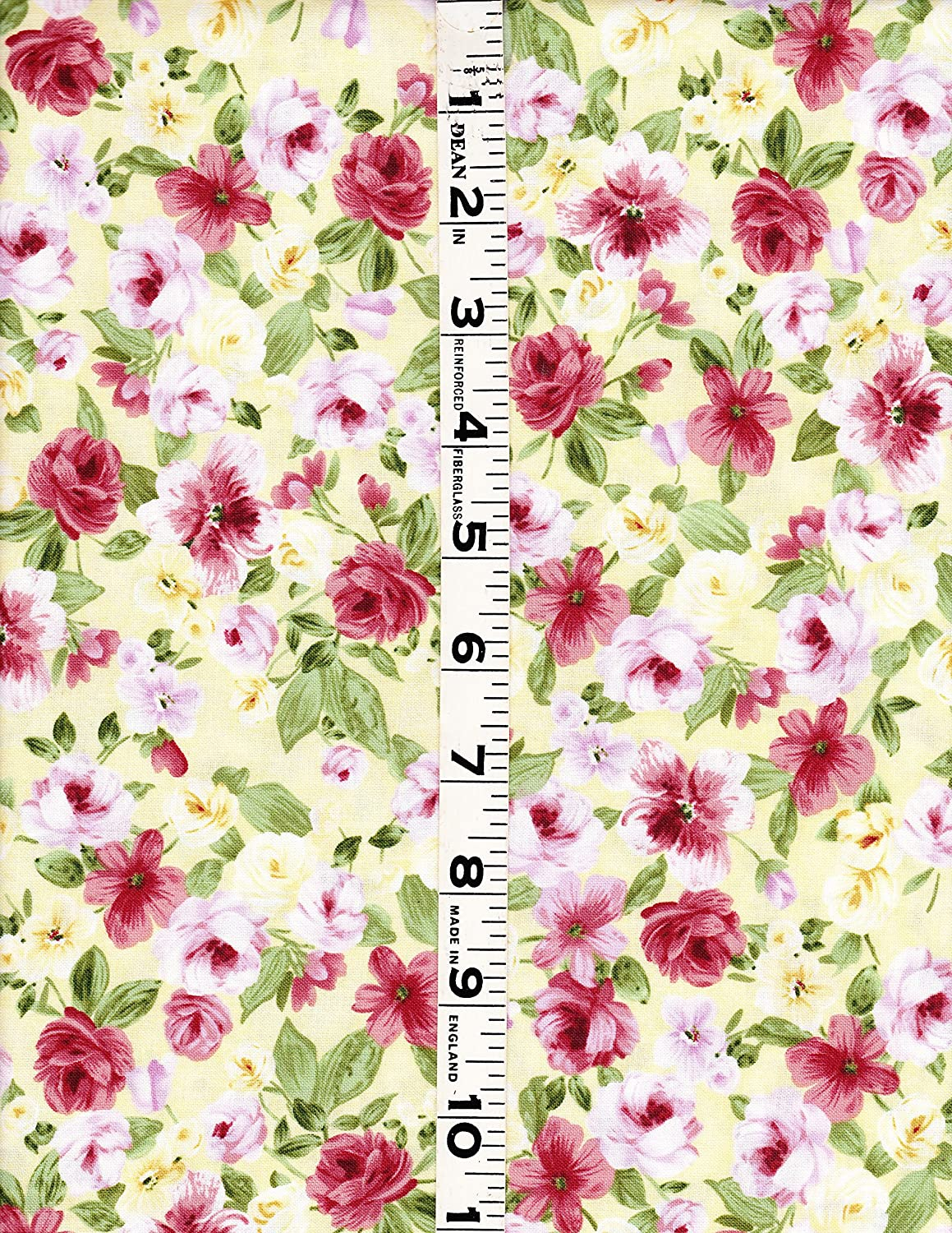 Timeless Treasures Fabric 100/% Cotton Pink Allover Floral